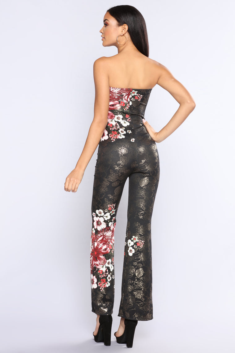 Lorenzo Tube Jumpsuit - Black Multi
