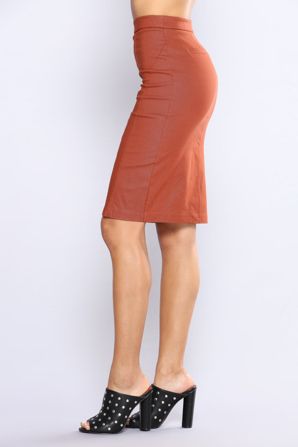 Fame Is Blinding Pencil Skirt - Rust