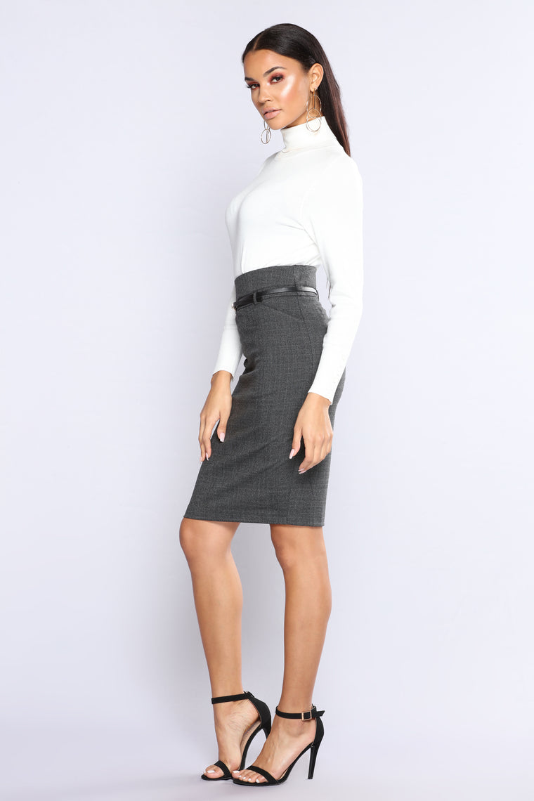 Sign You Up Pencil Skirt - Black