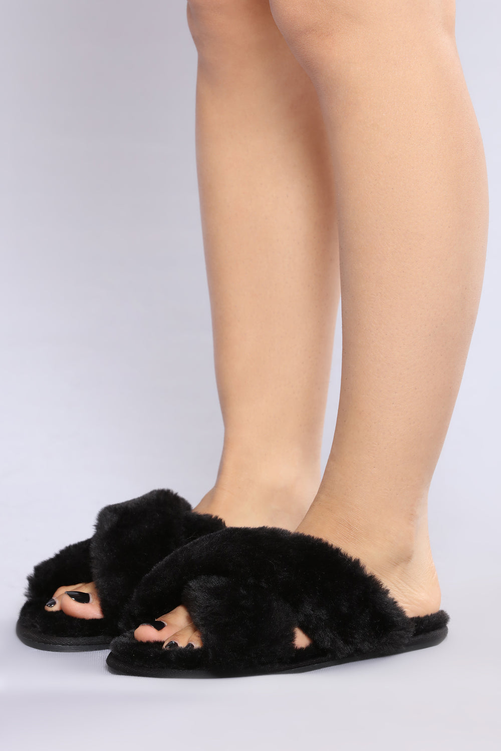 Cozy Toes Sliders - Black