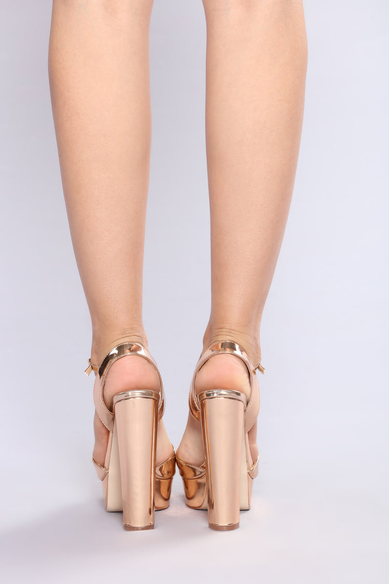 Scuba Sexy Heel - Rose Gold