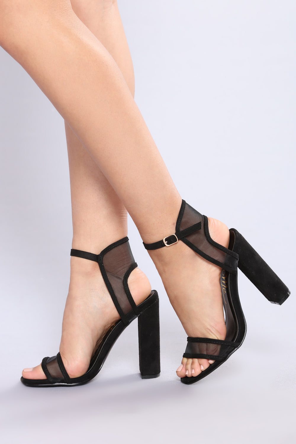 See Right Through Me Heel - Black