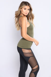 Get It Right Seamless Shaping Top - Olive