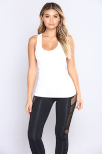 Get It Right Seamless Shaping Top - White
