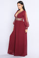 Countess Embroidered Jumpsuit - Wine
