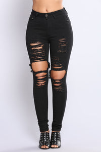 Rising To The Top Jeans - Black