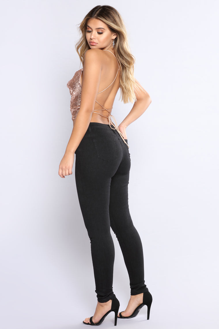 Always Moving Up High Rise Jeans - Black