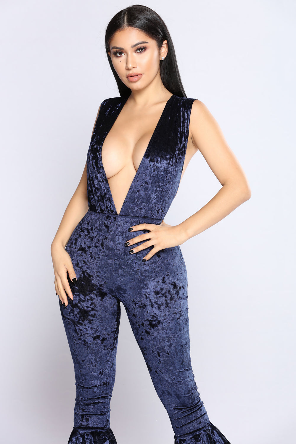 Do The Ruffle Jumpsuit - Navy