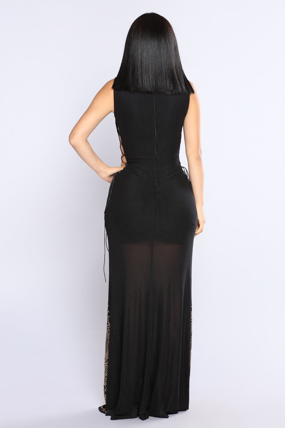 Gem To Perfection Dress - Black