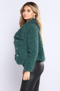 Hug Dealer Faux Fur Jacket - Hunter
