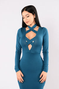 Switching Up Dress - Teal