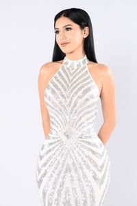 The Main Attraction Dress - Silver