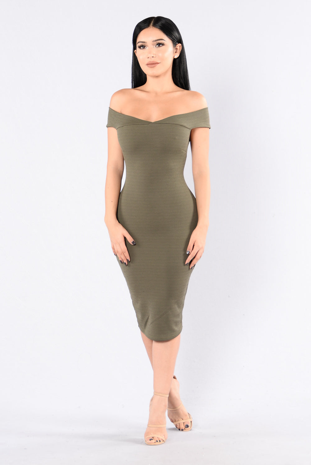 Dubai Dress - Light Olive