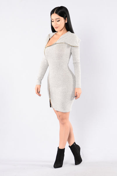 Fighter Dress - Heather Grey