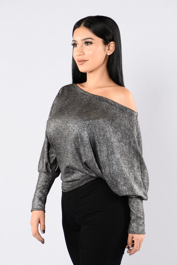 American Honey Top - Black/Silver