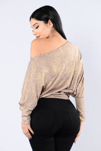 American Honey Top - Mocha/Gold