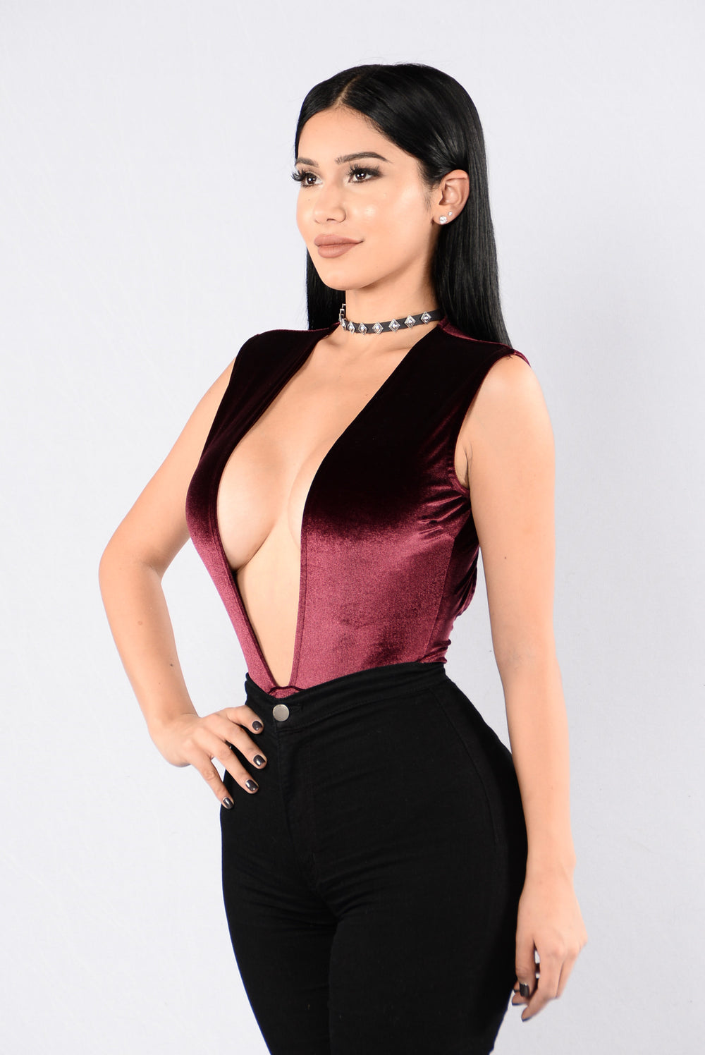 Hot To Touch Bodysuit - Wine