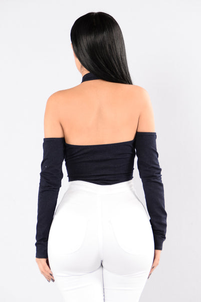 Walk In The Club Bodysuit - Denim