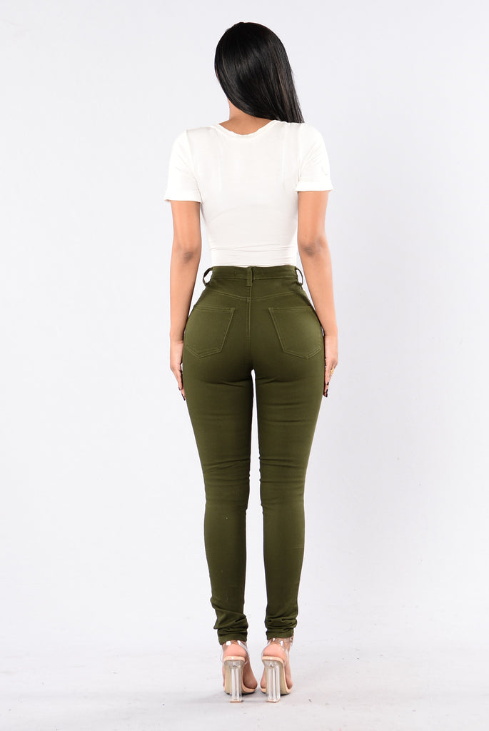 I Don't Want To Jeans - Olive