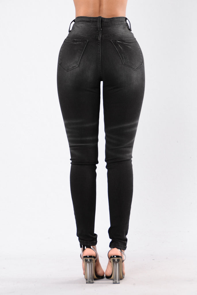 For The Win Moto Jeans - Black
