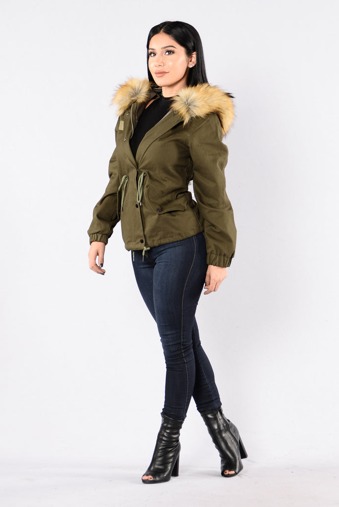 Explore The World Jacket - Olive/Brown