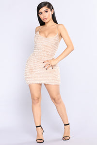 Evermore Fuzzy Dress - Taupe