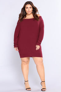 Worry Free Top - Burgundy