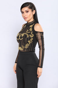 Royalty Tonight Top - Black