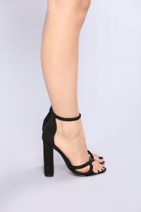 Don't Double Cross Me Heel - Black