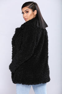 Sweet Nothings Fuzzy Jacket - Black