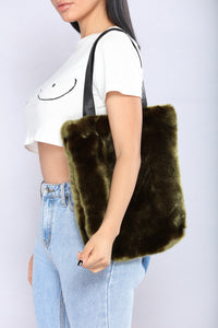 Fur Of The Party Tote Bag - Olive