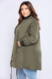 World Traveler Bomber Jacket - Olive