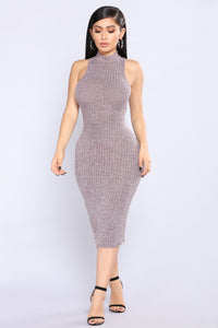 Yulissa Heathered Dress - Wine
