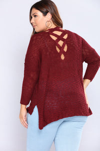 Ana Marie Sweater - Burgundy