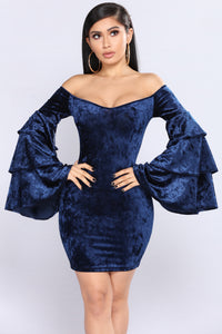 Emerald By Night Dress - Navy