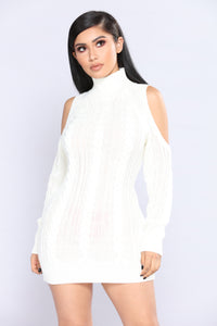 Evanna Cold Shoulder Sweater - Ivory