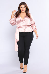 Gemstone Bubble Sleeve Top - Mauve