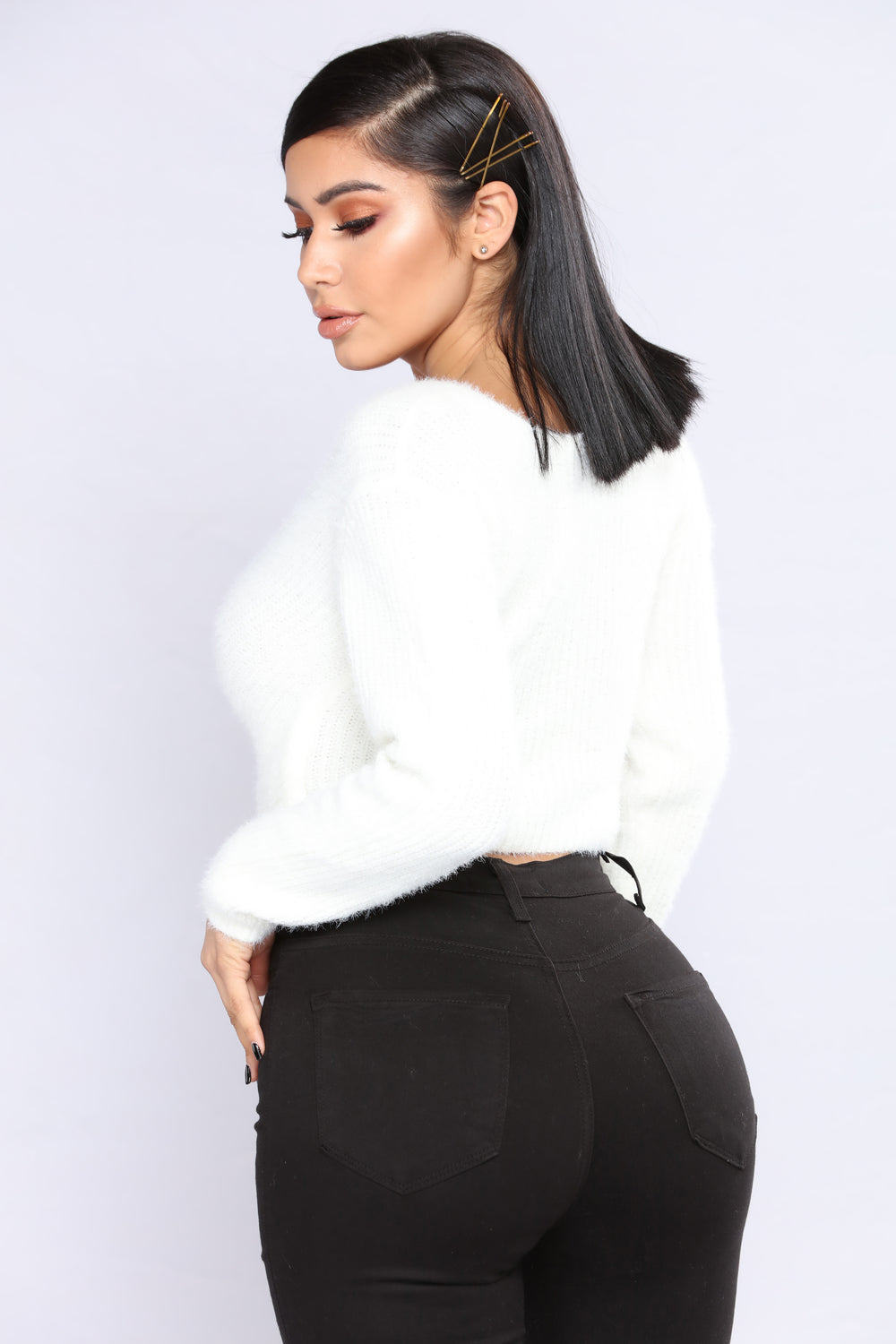 All Fuzzy Sweater - Ivory