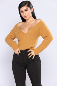 All Fuzzy Sweater - Mustard