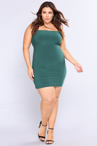 Straight To The Point Dress - Hunter Green