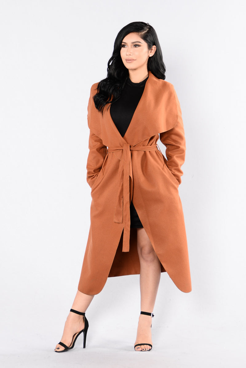 Big City Girl Coat - Camel