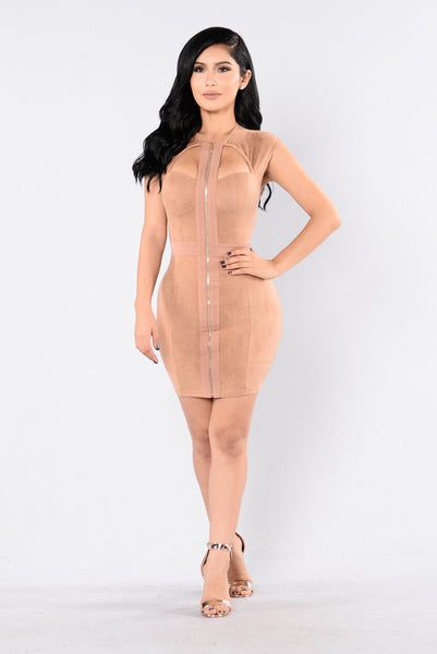 Loving Eyes Dress - Camel