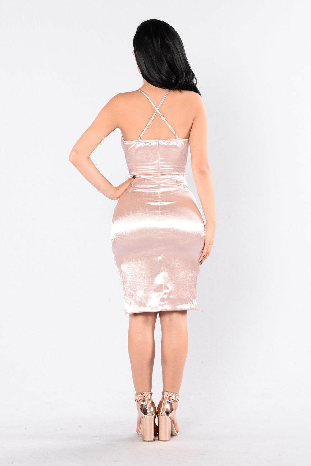 Precious Time Dress - Rose Gold