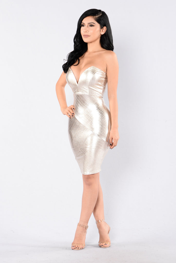 Be With You Dress - Gold