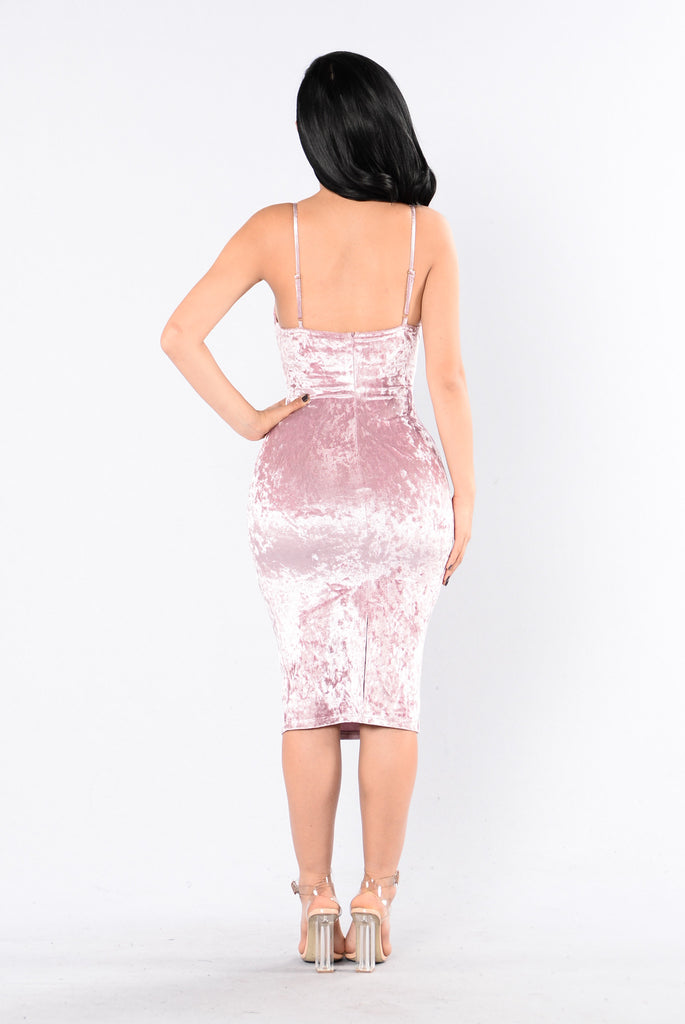 Do Not Disturb Dress - Mauve