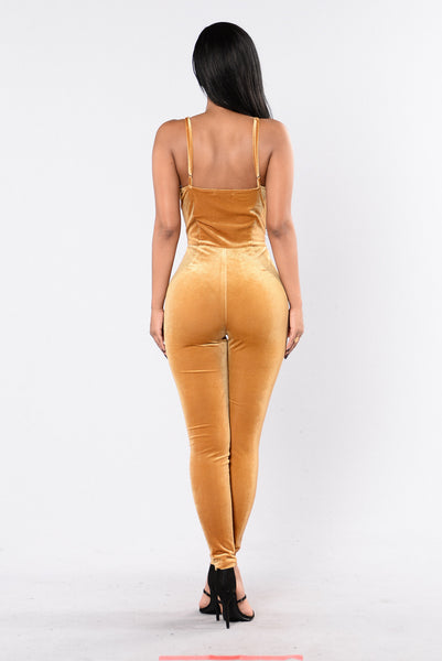 Light It Up Jumpsuit - Gold