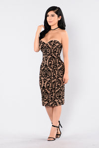 Burning Love Dress - Nude