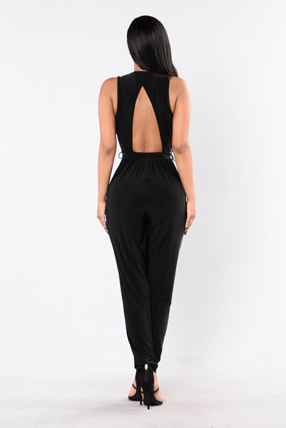 Leap of Faith Jumpsuit - Black
