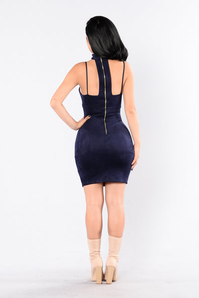 I'll Be There Dress - Navy