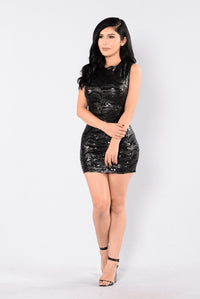 Diamonds Are Forever Dress - Black/Black
